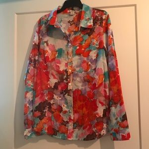 Coldwater Creek Floral Blouse